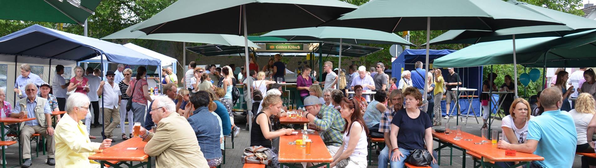 Beim Dorffest in Schildgen