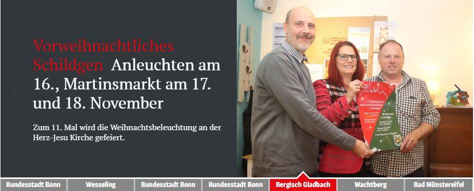 Bergisches Handelsblatt vom 13.11.2018