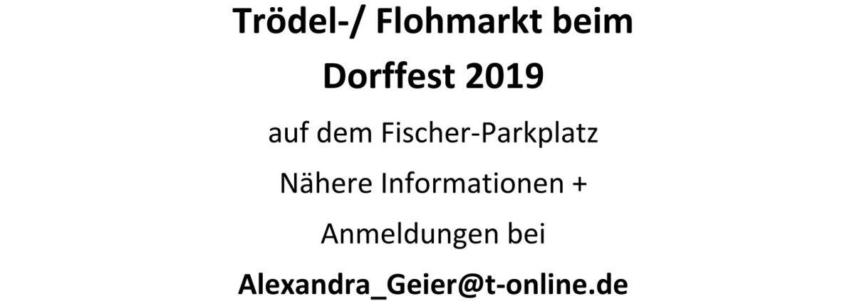 Flohmarkt beim Dorffest in Schildgen 2019