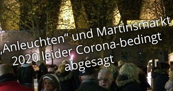 Anleuchten & Martinsmarkt 2020 in Schildgen leider abgesagt